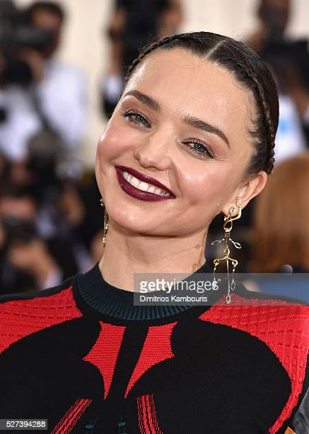 Model Miranda Kerr attends the 'Manus x Machina Fashion In An Age Of Technology' Costume Institute Gala at Metropolitan Museum of Art on May 2 2016...
