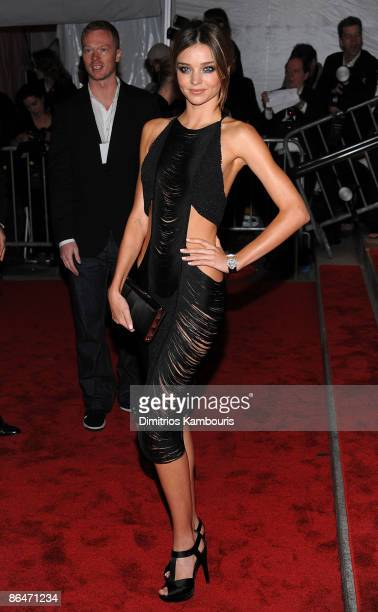 Model Miranda Kerr attends 'The Model as Muse Embodying Fashion' Costume Institute Gala at The Metropolitan Museum of Art on May 4 2009 in New York...
