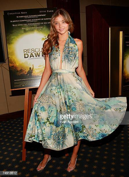 Model Miranda Kerr attends the premiere of 'Rescue Dawn' at the Dolby Screening Room June 25 2007 in New York City