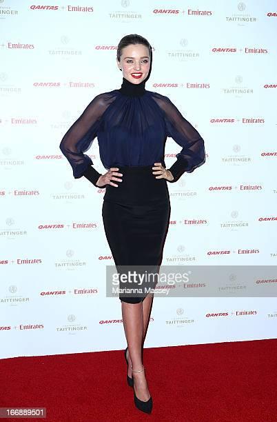 Model Miranda Kerr attends the QANTAS Gala Dinner at Sydney Domestic Airport on April 18 2013 in Sydney Australia