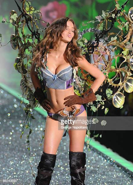 Model Miranda Kerr attends the Victoria's Secret fashion show at The Armory on November 19 2009 in New York City