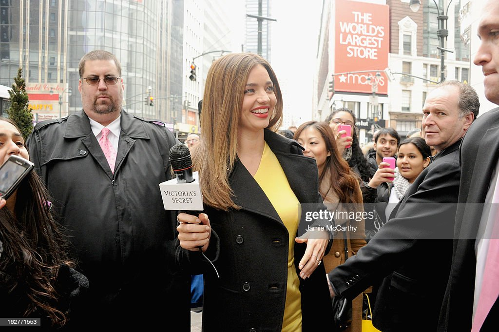 Model Miranda Kerr attends Victoria's Secret Angels greet fans at Fabulous Launch at Victoria's Secret Herald Square on February 26, 2013 in New York City.