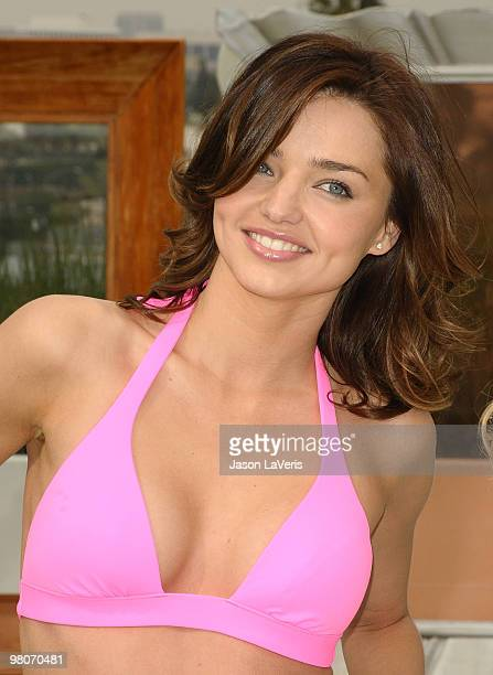Model Miranda Kerr celebrates the 15th anniversary of the Victoria's Secret swimsuit catalog at SLS Hotel on March 25 2010 in Beverly Hills California