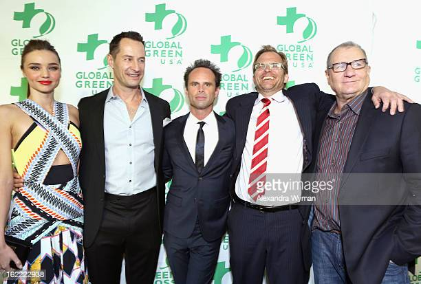 Model Miranda Kerr Global Green CoFounder Sebastian Copeland actor Walton Goggins Global Green CEO Matt Petersen and actor Ed O'Neill attend Global...