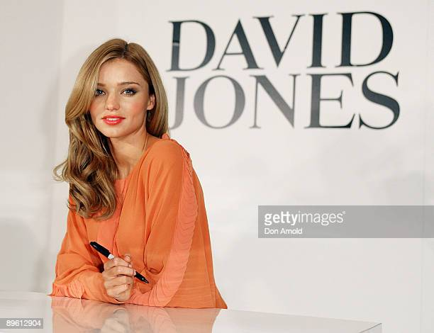 Model Miranda Kerr hosts an instore fashion workshop highlighting new trends and pieces from the David Jones Spring/Summer Collection which was...