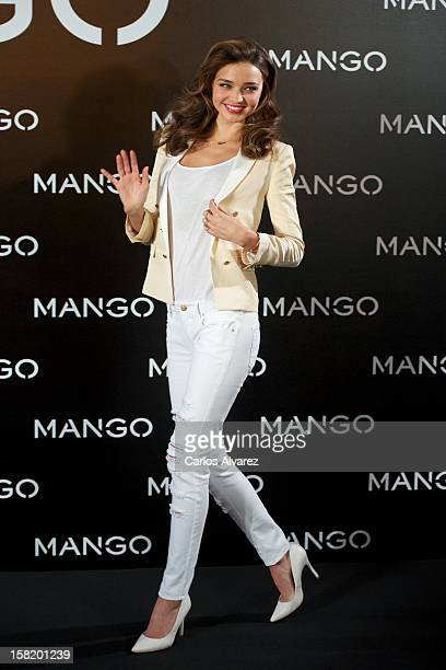 Model Miranda Kerr is announced as the new Face of Mango at the Villamagna Hotel on December 11 2012 in Madrid Spain