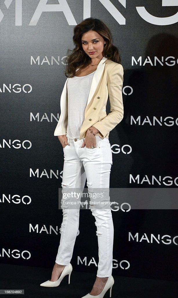Model Miranda Kerr is presented as the new face of Mango at the Villamagna Hotel on December 11, 2012 in Madrid, Spain.