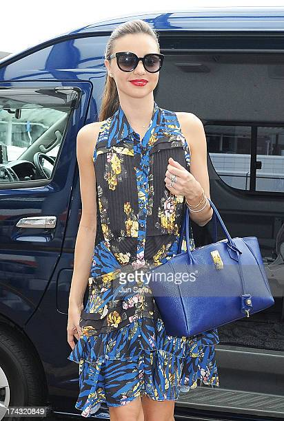 Model Miranda Kerr is seen on July 24 2013 in Tokyo Japan