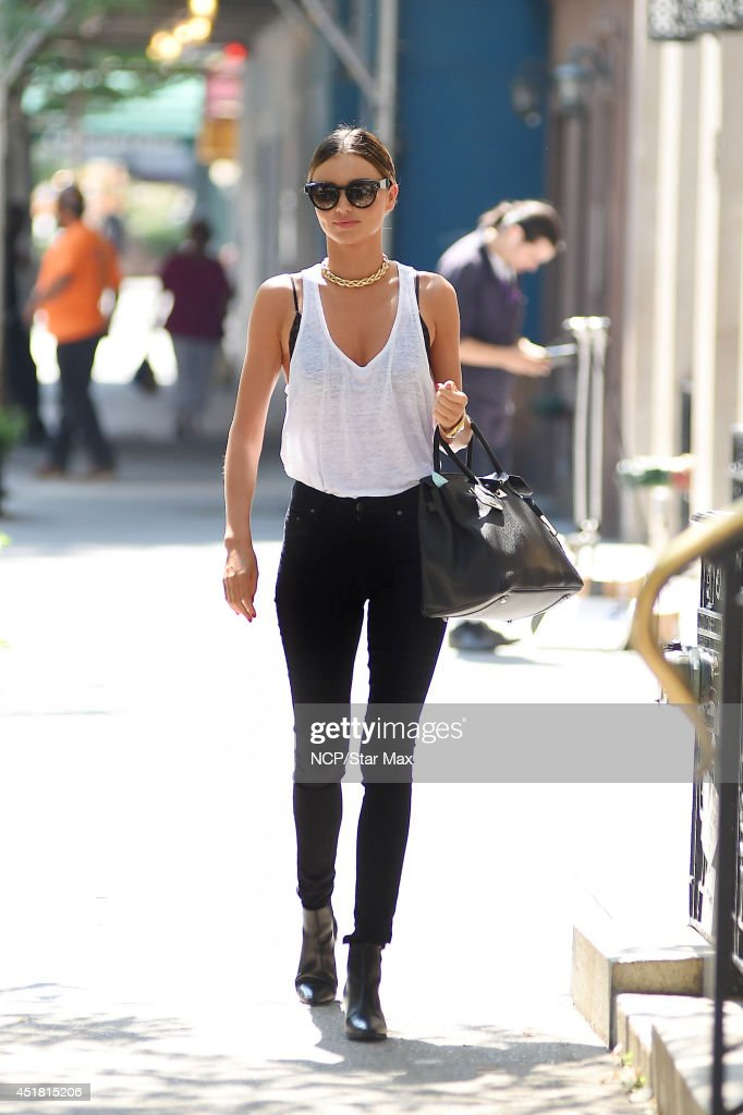 Celebrity Sightings In New York City - July 7, 2014 : News Photo