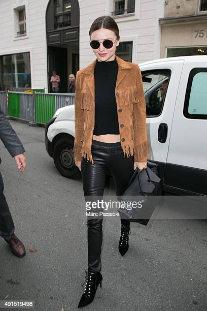 Model Miranda Kerr is seen on October 6 2015 in Paris France