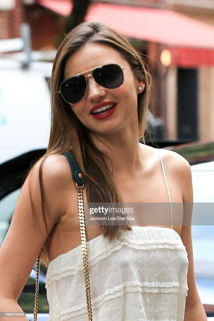 Model Miranda Kerr is seen on September 16, 2013 in New York City.