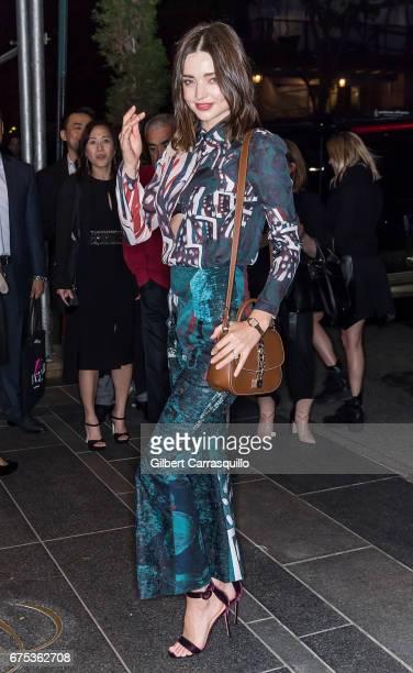 Model Miranda Kerr is seen on the streets of Manhattan on April 30 2017 in New York City