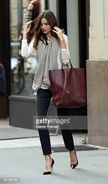 Model Miranda Kerr is seen on the streets of Manhattan on November 3 2011 in New York City