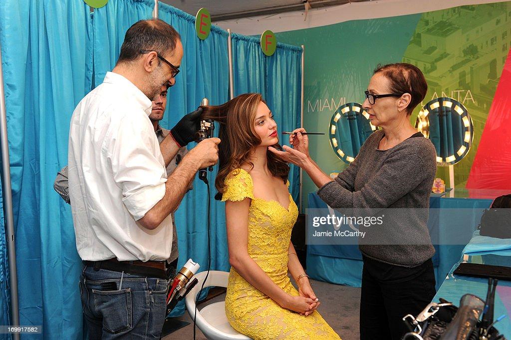 Model Miranda Kerr kicks-off the Gillette Venus Goddess Experience benefitting Step Up Women's Network on June 4, 2013 in New York City.
