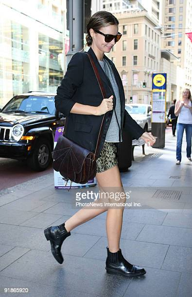 Model Miranda Kerr out and about in Sydney ahead of her appearance at the Caulfield Cup this weekend on October 14 2009 in Sydney Australia