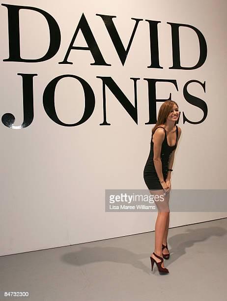 Model Miranda Kerr poses following the catwalk show during the David Jones Autumn/Winter 09 Season Launch at the Hordern Pavilion on February 11 2009...