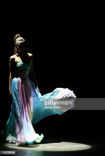 Model Miranda Kerr showcases an outfit on the catwalk by designer Alex Perry on day one of Rosemount Australian Fashion Week Spring/Summer 2007/08...