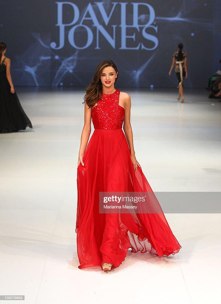 5f2fceb2b30 Model Miranda Kerr showcases designs by Alex Perry on the catwalk at ...