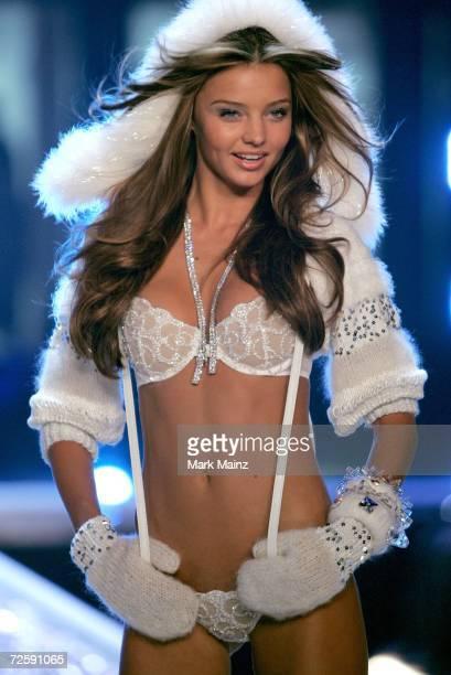 Model Miranda Kerr walks the runway during the Victoria's Secret Fashion Show held at the Kodak Theatre on November 16 2006 in Hollywood California...