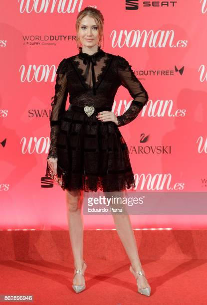 Model Mireia Lalaguna attends the 'Woman 25th anniversary' photocall at Madrid Casino on October 18 2017 in Madrid Spain