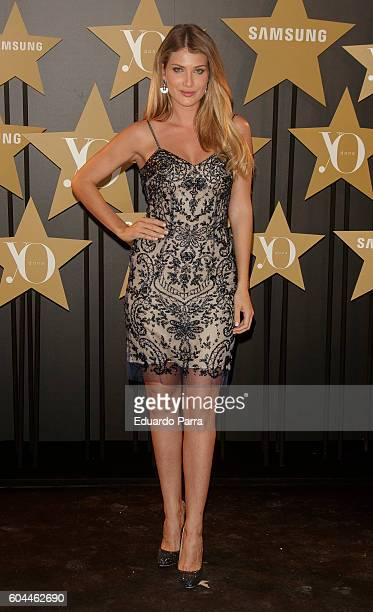 Model Mireia Lalaguna attends the 'Yo Dona' fashion party photocall at Eurobuilding hotel on September 13 2016 in Madrid Spain