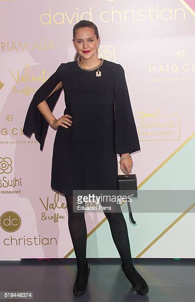 Model Mireia Verdu attends David Christian boutique opening party at David Christian store on April 6 2016 in Madrid Spain