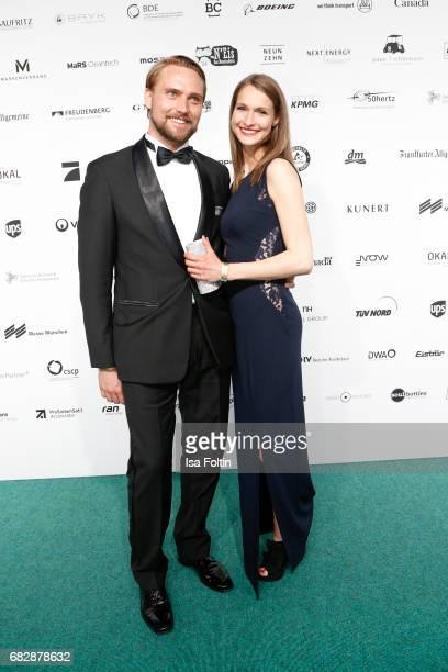 Model Miriam Mack and her partner Johannes Katt attend the GreenTec Awards at ewerk on May 12 2017 in Berlin Germany