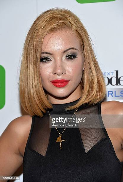 Model Mirjana Puhar arrives at the America's Next Top Model Cycle 21 Premiere Party Presented By NYLON and LINE at SupperClub Los Angeles on August...