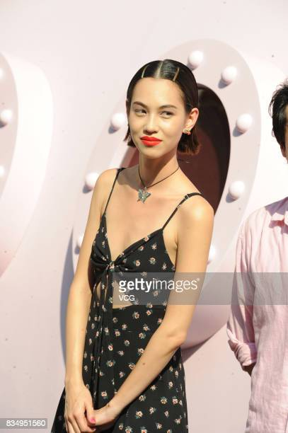 Model Mizuhara Kiko attends Daphne store opening ceremony on August 18 2017 in Shanghai China