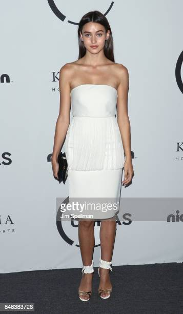 Model Model Gabby Westbrook attends the 2017 Unitas Gala at Capitale on September 12 2017 in New York City