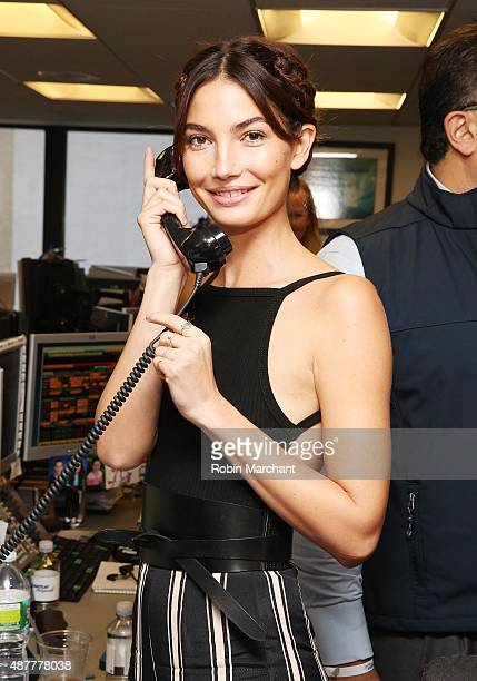 Model Model Lily Aldridge attends the annual Charity Day hosted by Cantor Fitzgerald and BGC at Cantor Fitzgerald on September 11 2015 in New York...