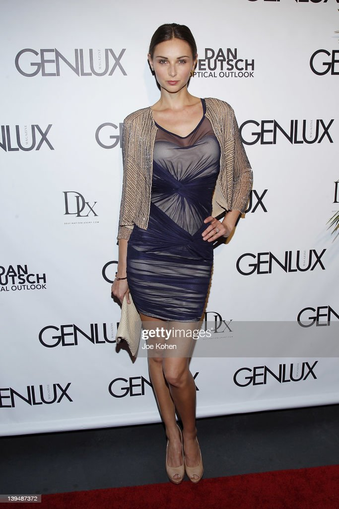 Model Model Ludi Delfino attends the Night Of 'BB Forever: Brigitte Bardot, The Legend' at Sofitel Hotel on February 21, 2012 in Los Angeles, California.