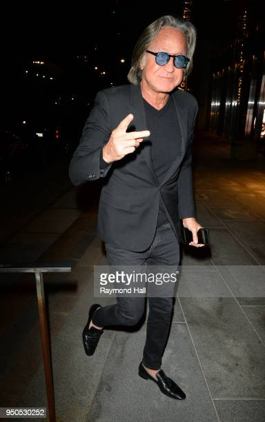 Model Mohamed Hadid is seen arriving at Gigi Hadid's party in Brooklyn on April 23 2018 in New York City