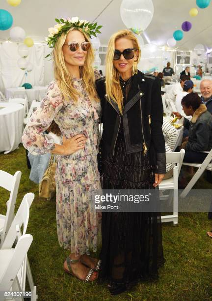 Model Molly Sims and fashion designer Rachel Zoe attend OCRFA's 20th Annual Super Saturday to Benefit Ovarian Cancer on July 29 2017 in Watermill New...