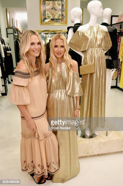 Model Molly Sims and fashion designer Rachel Zoe attend the Rachel Zoe x What Goes Around Comes Around popin on August 4 2017 in East Hampton New York