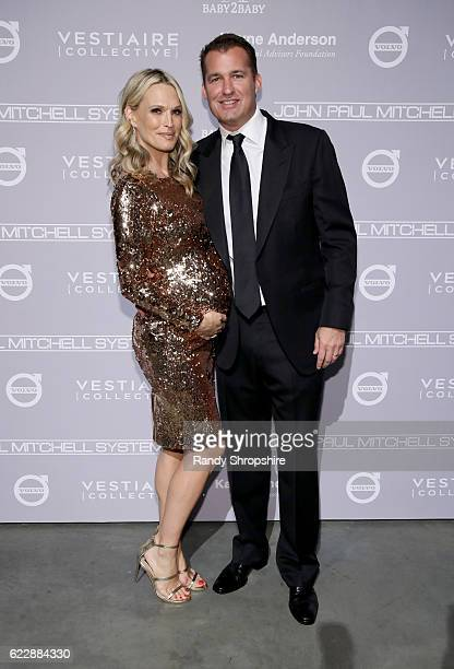 Model Molly Sims and producer Scott Stuber attend the Fifth Annual Baby2Baby Gala Presented By John Paul Mitchell Systems at 3LABS on November 12...