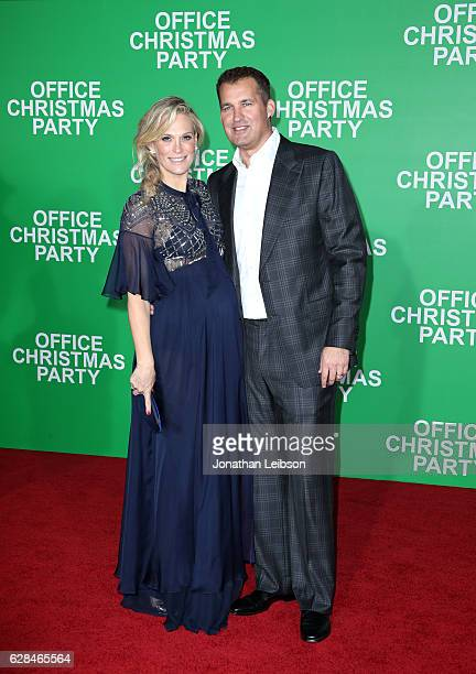 Model Molly Sims and producer Scott Stuber attend the LA Premiere of Paramount Pictures 'Office Christmas Party' at Regency Village Theatre on...