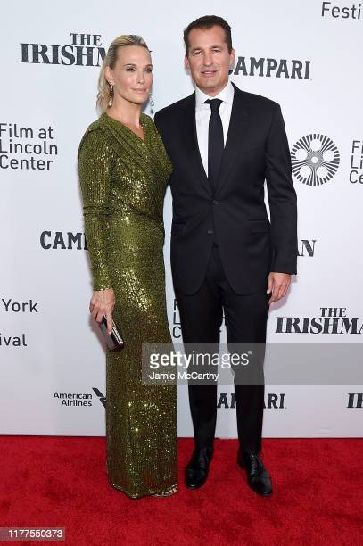 Model Molly Sims and Scott Stuber attend The Irishman screening during the 57th New York Film Festival at Alice Tully Hall Lincoln Center on...
