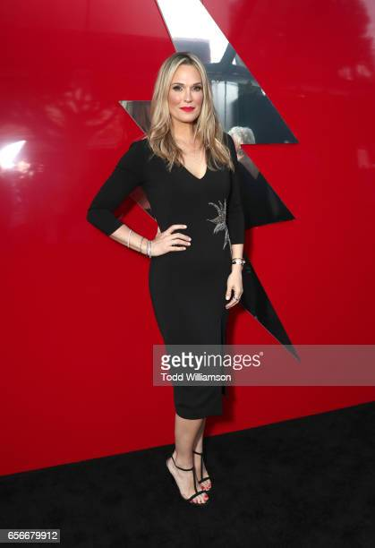 Model Molly Sims at The LA Premiere of Saban's Power Rangers presented by Lionsgate at Fox Bruin Theatre on March 22 2017 in Los Angeles California