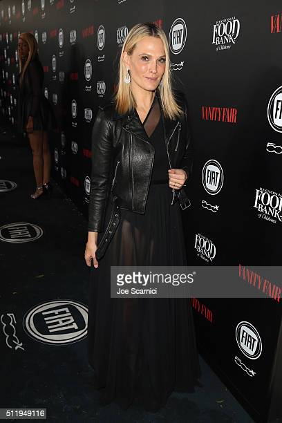 Model Molly Sims attends Vanity Fair and FIAT Young Hollywood Celebration at Chateau Marmont on February 23 2016 in Los Angeles California