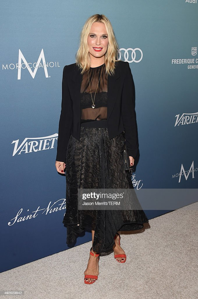 Model Molly Sims attends Variety's Power Of Women Luncheon at the Beverly Wilshire Four Seasons Hotel on October 9, 2015 in Beverly Hills, California.
