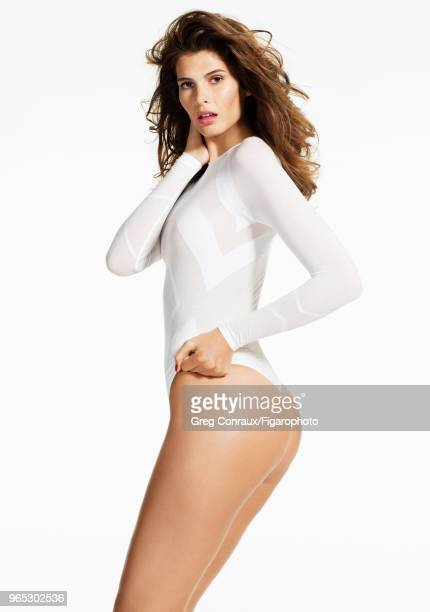 Model Monica Cima poses at a beauty shoot for Madame Figaro on October 11 2017 in Paris France Bodysuit by Wolford PUBLISHED IMAGE CREDIT MUST READ...