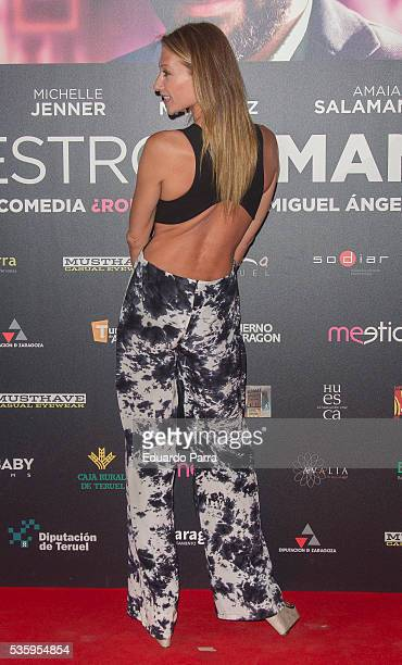 Model Monica Pont attends the 'Nuestros amantes' premiere at Palafox cinema on May 30 2016 in Madrid Spain