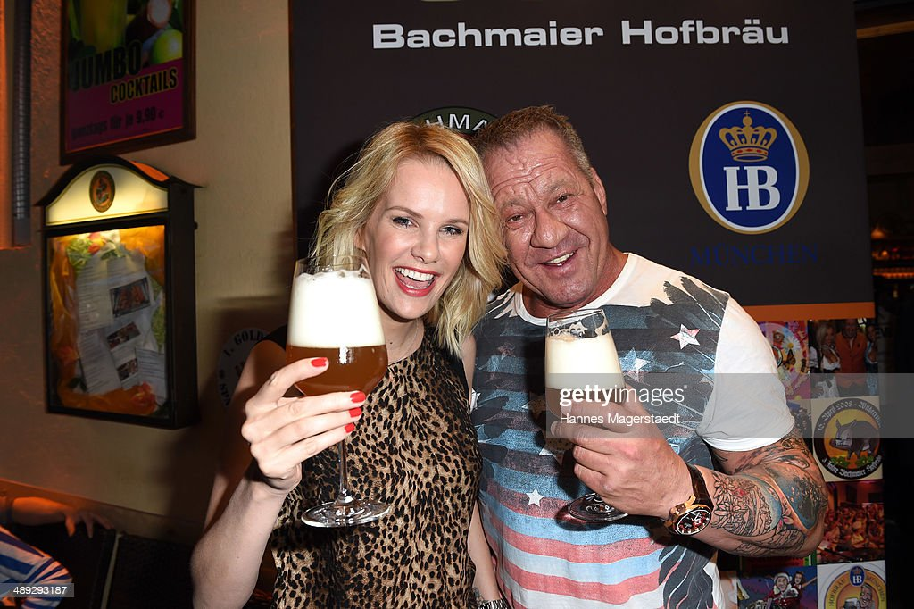Model Monika Ivancan and Hugo Bachmaier attend 9 Years Anniversary Bachmaier Hofbraeu at Bachmaier Hofbraeu on May 10, 2014 in Munich, Germany.