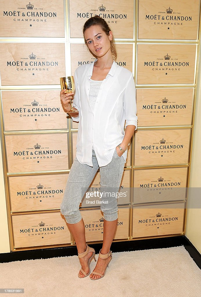 Model Monika 'Jac' Jagaciak attends The Moet & Chandon Suite at USTA Billie Jean King National Tennis Center on August 29, 2013 in New York City.
