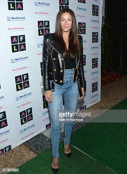 Model Monika Jakisic attends Russell Simmons' Rush Philanthropic Arts Foundation's inaugural Art For Life Los Angeles at Private Residence on May 3...