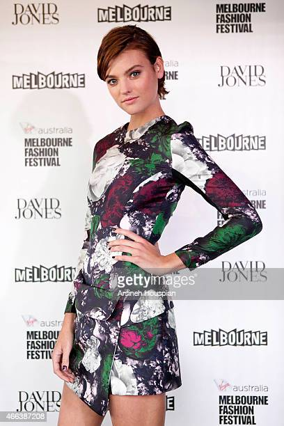 Model Montana Cox at the opening of the 2015 Melbourne Fashion Festival on March 14 2015 in Melbourne Australia
