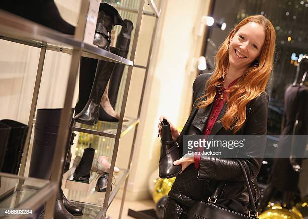 Model Morwenna Lytton Cobbold attends the LBD by LKB cocktail launch party at LK Bennett on October 7 2014 in London England