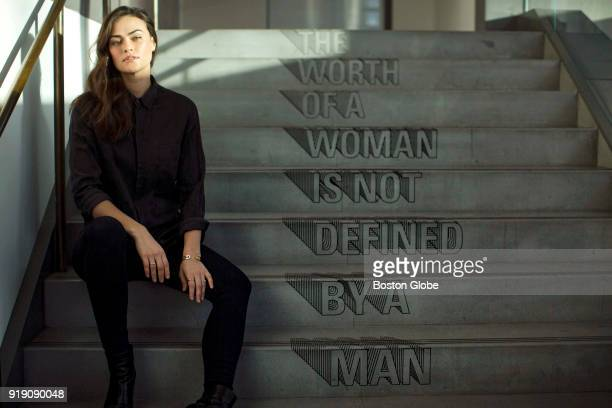 Model Myla Dalbesio poses for a photo in New York Jan 24 2018 More than 50 models spoke to the Globe Spotlight Team about sexual misconduct they...