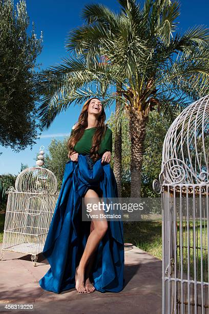 Model Nabilla is photographed for Self Assignment on October 30 2013 in Paris France